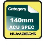 140mm ACU Race Numbers